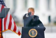 FILE PHOTO: U.S. President Donald Trump holds a rally to contest the certification of the 2020 U.S. presidential election results by the U.S. Congress in Washington