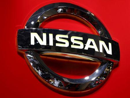 FILE PHOTO: Logo of the Nissan Motor Co. is displayed at the 44th Tokyo Motor Show in Tokyo, Japan