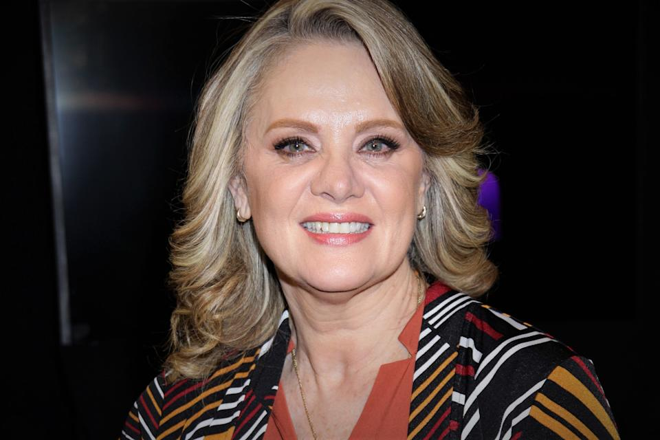 MEXICO CITY, MEXICO - MARCH 12: Erika Buenfil poses for a photo during a photocall at Televisa San Angel on March 12, 2020 in Mexico City, Mexico. (Photo by Medios y Media/Getty Images)