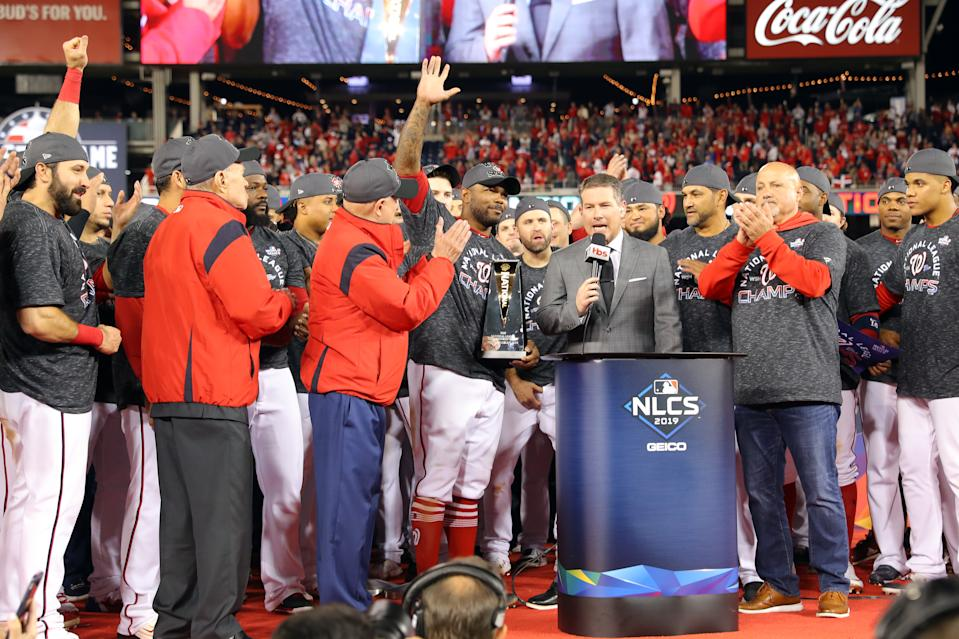 Howie Kendrick was named NLCS MVP. (Alex Trautwig/Getty Images)