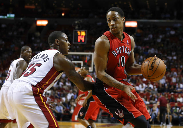 DeMar DeRozan is doing everything with his left hand this summer, on and off the court