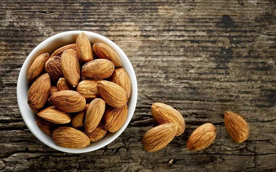 Those who consumed at least two portions of nuts a week had a 17 per cent lower risk of death from heart disease - Magone