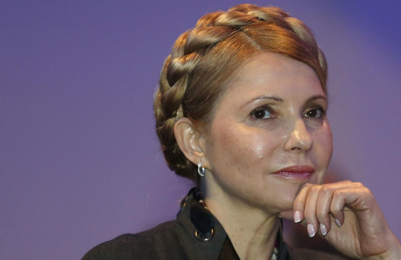 Ukrainian opposition politician Yulia Tymoshenko listens to a speaker during the European People's Party (EPP) Elections Congress in Dublin March 7, 2014. REUTERS/Suzanne Plunkett (IRELAND - Tags: POLITICS)