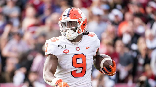 Players like Clemson's Travis Etienne would not be eligible to enter the NFL supplemental draft this summer because of coronavirus concerns, sources told Yahoo Sports. (AP Photo/Sean Rayford)