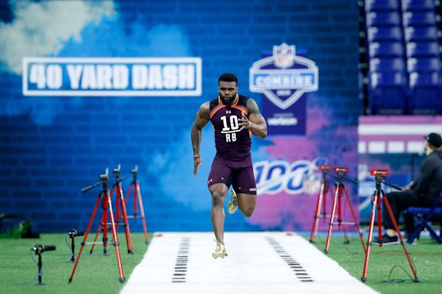 The 40 time haunts Elijah Holyfield, but will it define him? (Getty)
