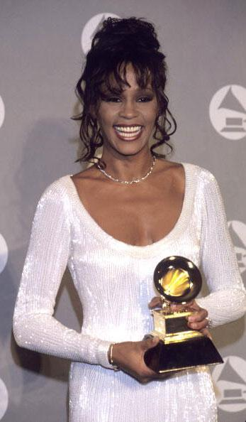 Whitney Houston at the 36th Annual GRAMMY Awards in 1994. (Photo by Larry Busacca/WireImage)