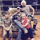 "<p>The ""Sweet Escape"" singer, who <a href=""https://people.com/music/gwen-stefani-blake-shelton-engaged/"" rel=""nofollow noopener"" target=""_blank"" data-ylk=""slk:announced her engagement"" class=""link rapid-noclick-resp"">announced her engagement</a> to longtime love Blake Shelton on Oct. 27, shares sons Kingston, 14, Zuma, 12, and Apollo, 6, (not pictured) with ex-husband Gavin Rossdale. </p>"
