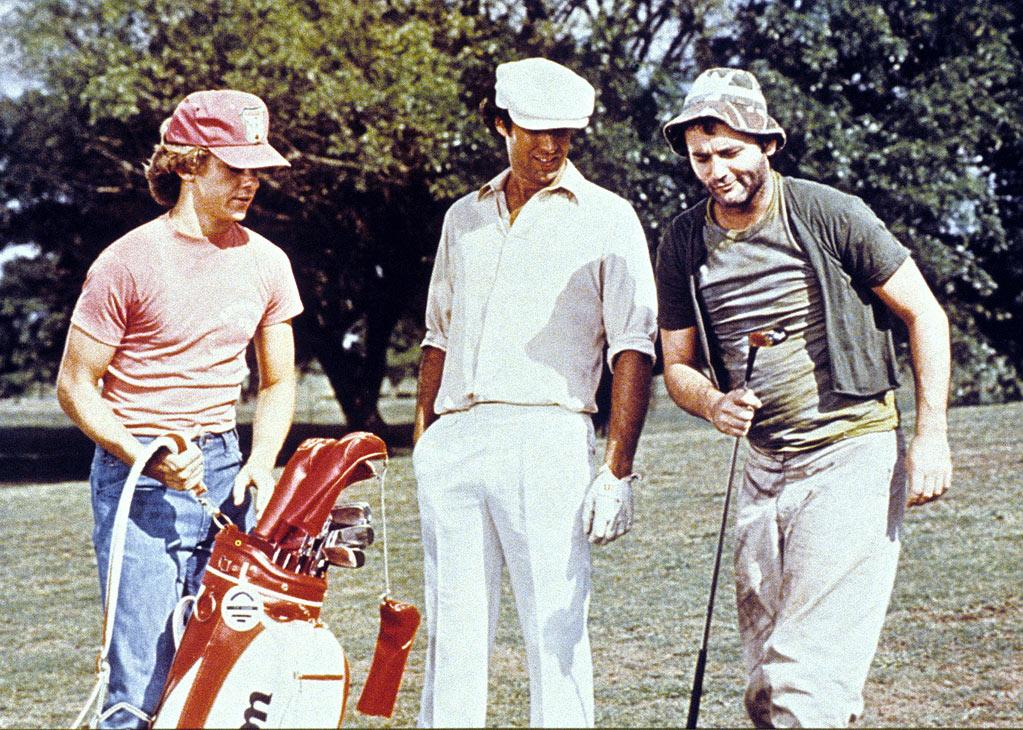 "<a href=""http://movies.yahoo.com/movie/caddyshack/"">CADDYSHACK</a> (1980) <br>Directed by: Harold Ramis <br>Starring: Chevy Chase and Bill Murray"