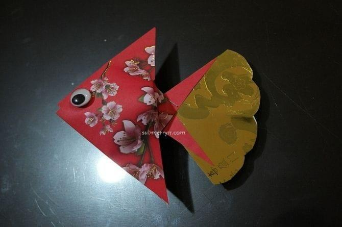 cny decoration using red packets