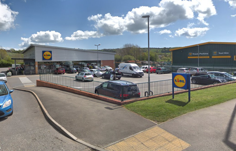 The incident took place at a Lidl supermarket in Bridgend, Wales. (Google)