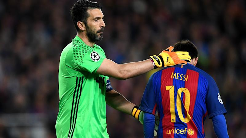 Gianluigi Buffon Lionel Messi Barcelona Juventus Champions League 19042017