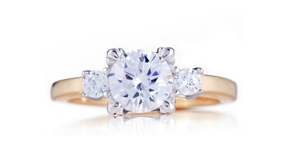 The QVC version of Meghan's engagement ring [Photo: QVC]