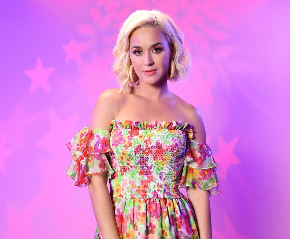 LOS ANGELES, CALIFORNIA - AUGUST 07: Katy Perry visits the SiriusXM Studios on August 07, 2019 in Los Angeles, California. (Photo by Michael Kovac/Getty Images for SiriusXM)
