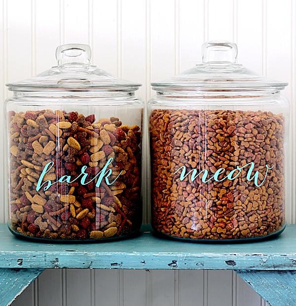 DIY Pet Food Jars The Shabby Creek Cottage | Vanillapup