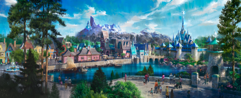 The new attraction will feature a 7.5 acre lake and Elsa's Snow Palace (Disneyland Paris)