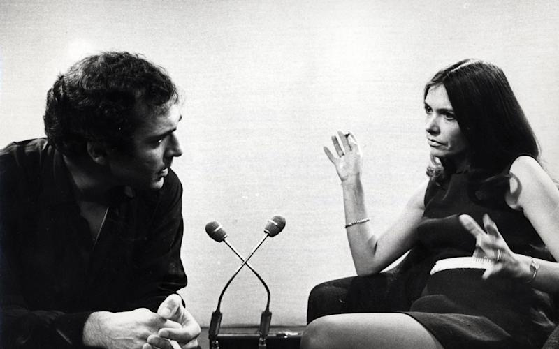 Joan Bakewell and Harold Pinter