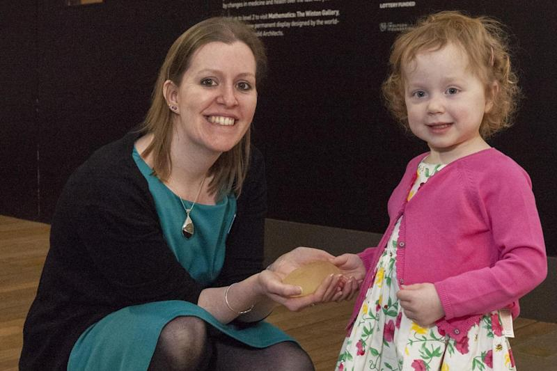 Donation: Lucy Boucher with the Science Museum's Selina Hurley, Curator, Medicine Galleries Project: Science Museum