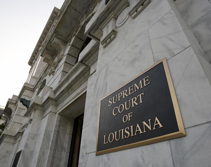 The exterior of the Supreme Court of Louisiana in New Orleans. (Paul Richards/AFP via Getty Images)