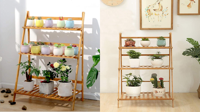 This ladder looks great both indoors and outdoors