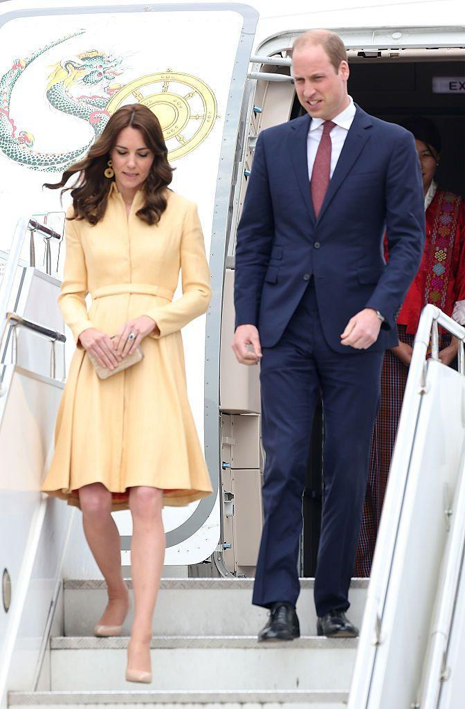 <p>Kate wore an Emilia Wickstead piece upon her entry to Thimphu.</p>