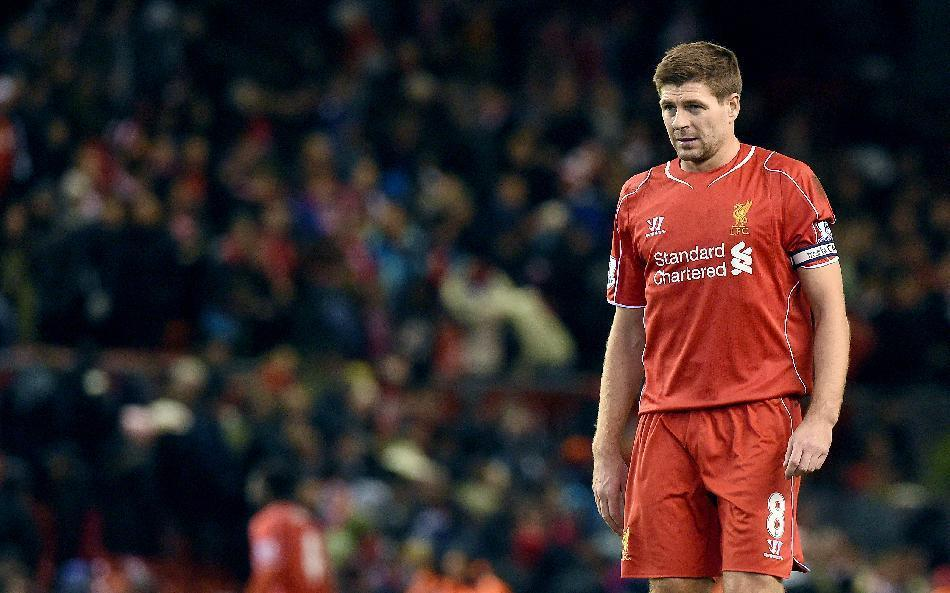 Liverpool's Steven Gerrard is currently out of contract at the club and uncertainty hangs over the 34-year-old's future (AFP Photo/Paul Ellis)