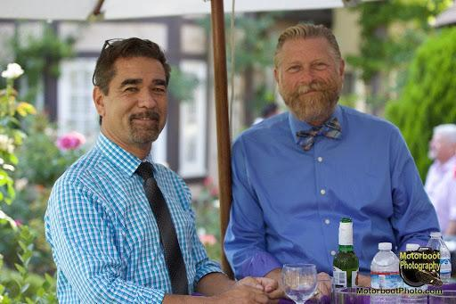 """Jeff Wacha (right) and his husband, Garry Bowie, who was head of the nonprofit Being Alive, an L.A.-based HIV/AIDS social services organization, until he passed away from COVID-19 complications in April 2020.<span class=""""copyright"""">Courtesy Jeff Wacha—Motorboot Photography</span>"""