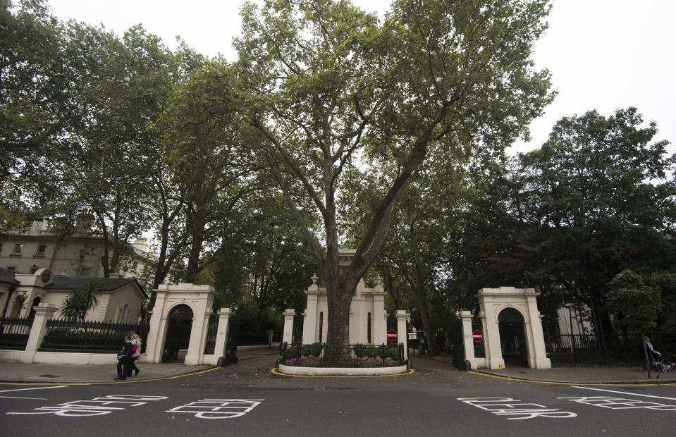 Kensington Palace Gardens is Britain's most exclusive address, according to Zoopla (Hannah McKay/PA Images)