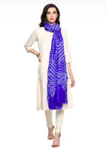 "<a href=""https://fave.co/2T0mumd"" rel=""nofollow noopener"" target=""_blank"" data-ylk=""slk:BUY HERE"" class=""link rapid-noclick-resp"">BUY HERE</a> Navy blue and white Bandhani dupatta, by Biba from Shoppers Stop, for a discounted price of <strong>Rs. 779</strong>"