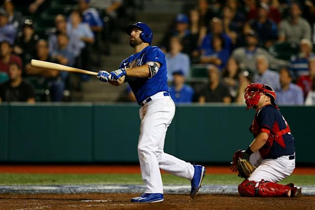 When he's not playing baseball, Cody Decker is working a variety of odd jobs around Los Angeles. (Getty Images)