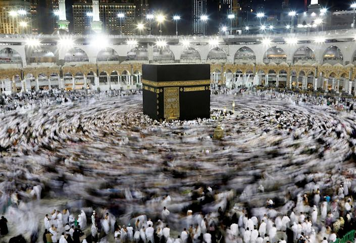 <p>JUN. 8, 2016 — Muslims gather around the Kaaba inside the Grand Mosque during the holy fasting month of Ramadan in Mecca, Saudi Arabia. (Faisal Al Nasser/Reuters) </p>