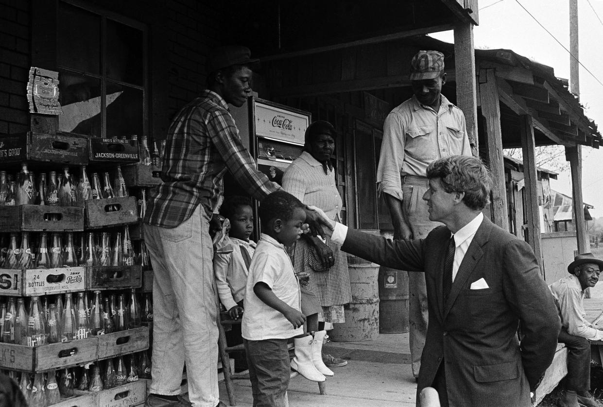 Sen. Robert F. Kennedy near Greenville, Miss., in April 1967. (Photo: Jack Thornell/AP)