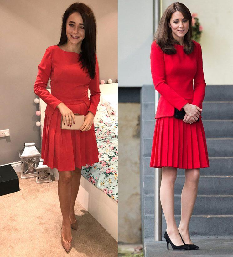 Style blogger Kate Urbanksa replicates many of Kate Middleton's outfits.