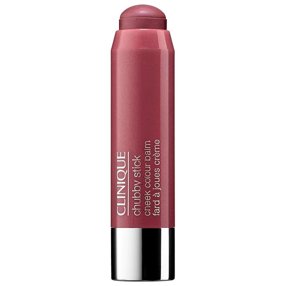<p>You can't go wrong with the classic <span>Clinique Chubby Stick Cheek Colour Balm</span> ($26) that will leave your cheeks with a flush of color and moisture.</p>