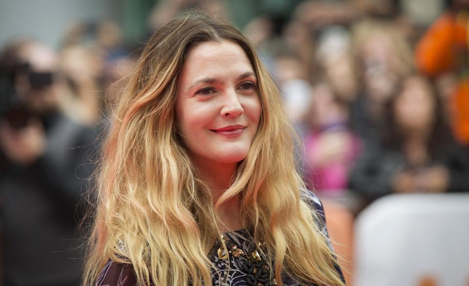 Drew Barrymore arrives on the red carpet for the film