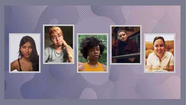 PHOTO: Five people share about their struggles with anorexia. (ABC News Photo Illustration/Timothy Kuratek/Sam Dylan Finch/Damola Akintunde/Machmer Movement Photography/Reba Tobia)