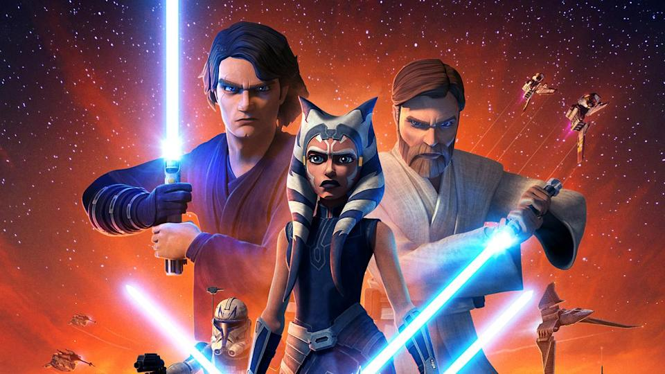 <p> Although things first kicked off with a 2008 feature film, the Clone Wars series has since carried on the story, filling in the three year-gap between Attack of the Clones and Revenge of the Sith. Both Anakin Skywalker and Obi-Wan Kenobi feature prominently as characters, as they lead the Republic against the Separatist forces first brought together by former Jedi Count Dooku.&#xA0; </p> <p> Despite the returning character, though, it&#x2019;s all about Asohka. It&#x2019;s pretty astounding that a character from an animated spin-off series has slowly grown into one of the most popular Star Wars characters of all time. She&#x2019;s a hero with enough of a concrete sense of right and wrong that she&#x2019;s able to question the very establishment she yearned to be a part of, making the choice to leave the Jedi Order because she no longer believes in the nobility of its practices. It&#x2019;s an incredible piece of drama and an interesting way to muddy the waters without throwing out the entire concept of the light and dark side. Plus, the last season &#x2013; a Disney Plus exclusive &#x2013; is excellent. </p>