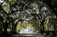 """<p>Savannah, Georgia is a city packed with endless haunted sites, and its mysterious underground tunnels are a key player in that status—especially in Forsyth Park. In the passages, experts at the Candler Hospital (now the Savannah Law School) did autopsies in the passageways, <a href=""""http://www.savannahmagazine.com/beneath-the-surface/"""" rel=""""nofollow noopener"""" target=""""_blank"""" data-ylk=""""slk:Savannah Magazine reports"""" class=""""link rapid-noclick-resp""""><em>Savannah Magazine</em> reports</a>. Some say they see shadowy figures when touring the tunnels today. Tune into episode 4 of <em><a href=""""https://podcasts.apple.com/us/podcast/introducing-dark-house/id1585723806?i=1000535230652"""" rel=""""nofollow noopener"""" target=""""_blank"""" data-ylk=""""slk:Dark House"""" class=""""link rapid-noclick-resp"""">Dark House</a> </em>on October 20 to hear about one of the city's most notoriously haunted houses. </p>"""