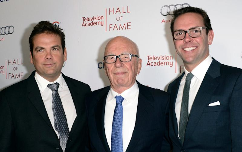 The Murdoch brothers Lachlan (left) and James have run Fox with their father since 2015