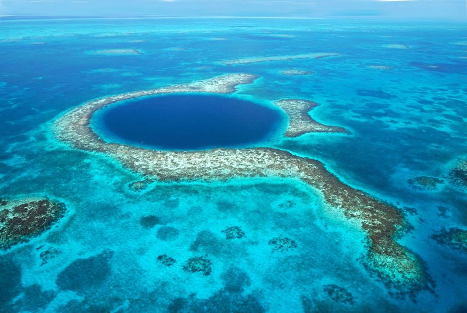Off the eastern coast of Belize lies unparalleled dive sites – most famously the Blue Hole.