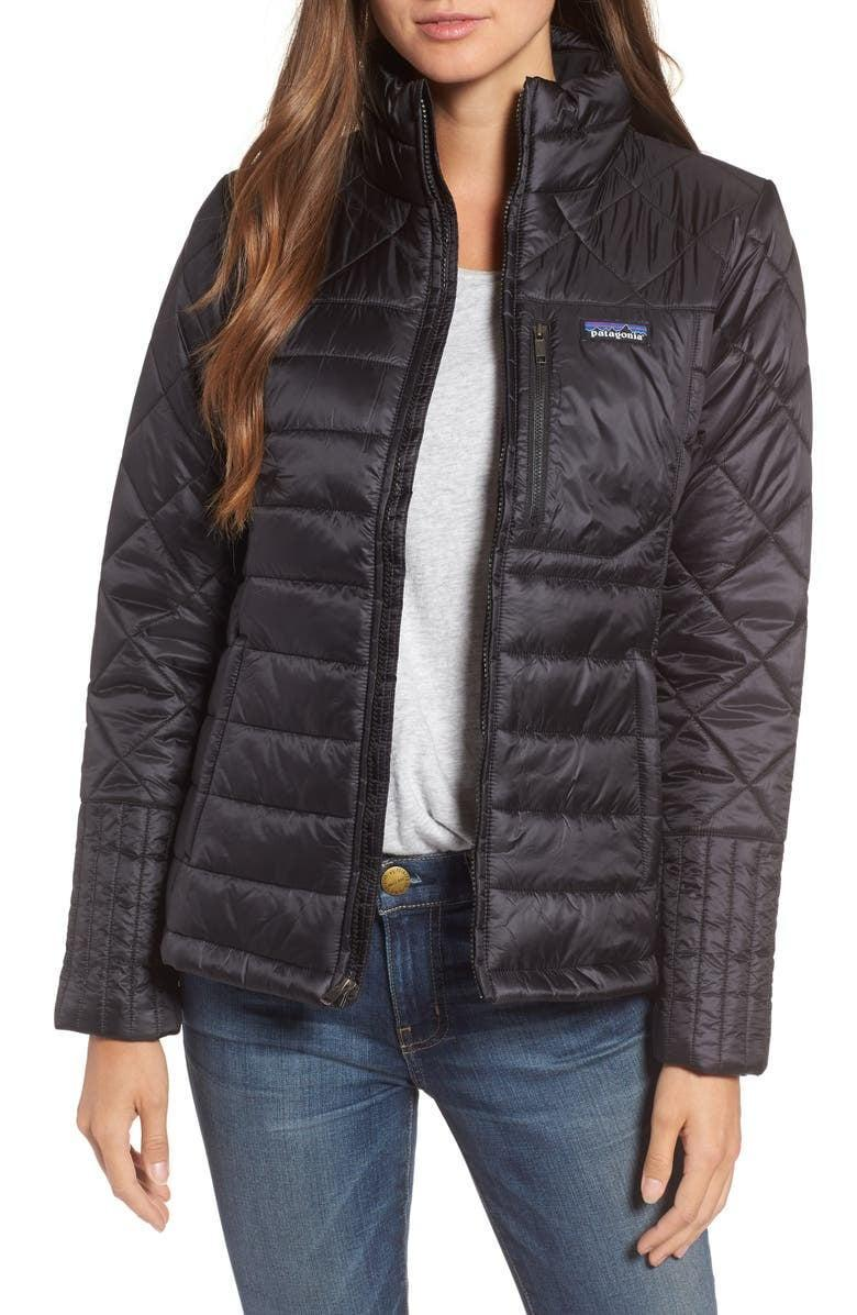 <p>Stay warm on rainy days with the <span>Patagonia Radalie Water Repellent Thermogreen-Insulated Jacket</span> ($159).</p>
