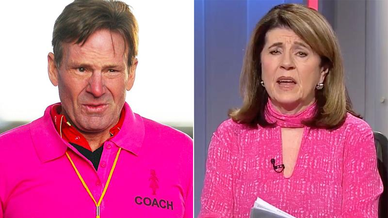 Pictured here, Sam Newman and Caroline Wilson have a history of bad blood.