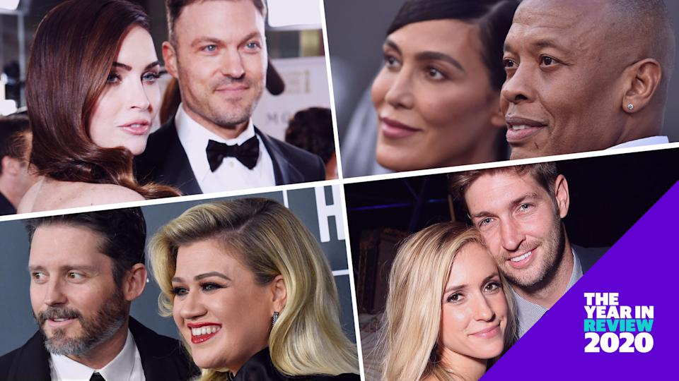 Megan Fox and Brian Austin Green, Brandon Blackstock and Kelly Clarkson, Nicole Young and Dr. Dre, and Kristin Cavallari and Jay Cutler are among the stars who broke up this year.