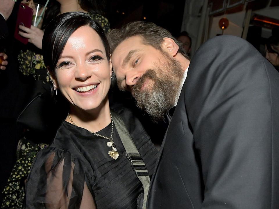 <p>Lily Allen and David Harbour attend 2020 Netflix SAG After Party at Sunset Tower in Los Angeles, California</p> (Getty Images for Netflix)