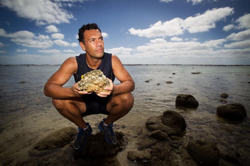 Environmentalist Kevin Iro has been campaigning for the creation of the Cook Island's marine sanctuary Marae Moana for more than five years (AFP Photo/Marty Melville)