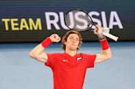 Russia's Andrey Rublev is in red-hot form