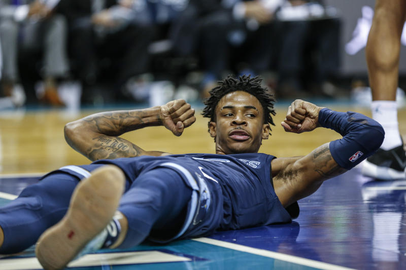 The Hornets weren't the first NBA team to fall victi to Ja Morant's late-game heroics. (AP Photo/Nell Redmond)