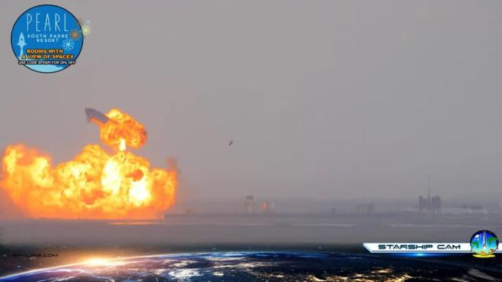 SpaceX Starship SN10 explodes after liftoff at South Padre Island, Texas