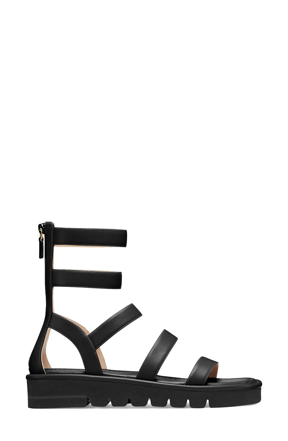 """<p><strong>Stuart Weitzman </strong></p><p>nordstrom.com</p><p><strong>$450.00</strong></p><p><a href=""""https://go.redirectingat.com?id=74968X1596630&url=https%3A%2F%2Fwww.nordstrom.com%2Fs%2Fstuart-weitzman-gala-lift-sandal-women%2F5910243&sref=https%3A%2F%2Fwww.townandcountrymag.com%2Fstyle%2Ffashion-trends%2Fg36384322%2Fbest-sandals-for-women%2F"""" rel=""""nofollow noopener"""" target=""""_blank"""" data-ylk=""""slk:Shop Now"""" class=""""link rapid-noclick-resp"""">Shop Now</a></p><p>Think of these gladiator sandals as the summertime cousins to the <a href=""""https://www.townandcountrymag.com/style/fashion-trends/g34849860/best-combat-boots-women/"""" rel=""""nofollow noopener"""" target=""""_blank"""" data-ylk=""""slk:combat boots"""" class=""""link rapid-noclick-resp"""">combat boots</a> you lived in this winter. </p>"""
