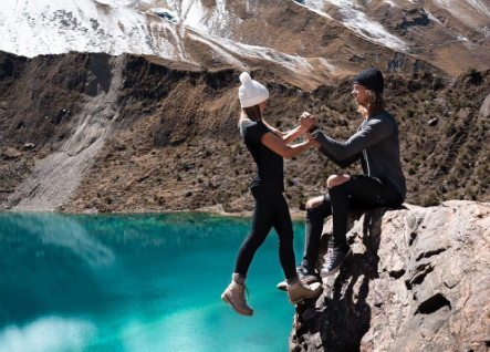 The couple received criticism for this daring shot: Instagram/Positravelty