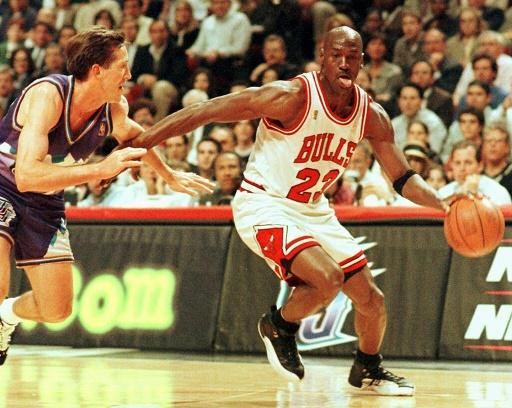 Second coming: Michael Jordan in action for the Chicago Bulls in 1997